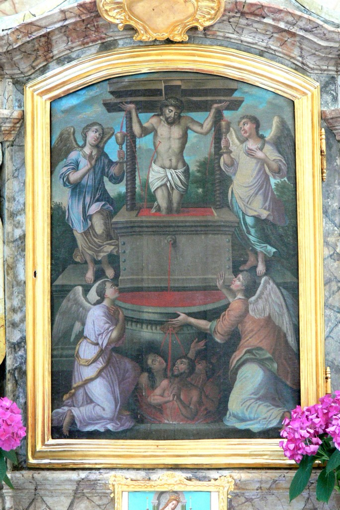 Bogenberg_Salvatorkirche_-_Hochaltar_3_Christuskelter