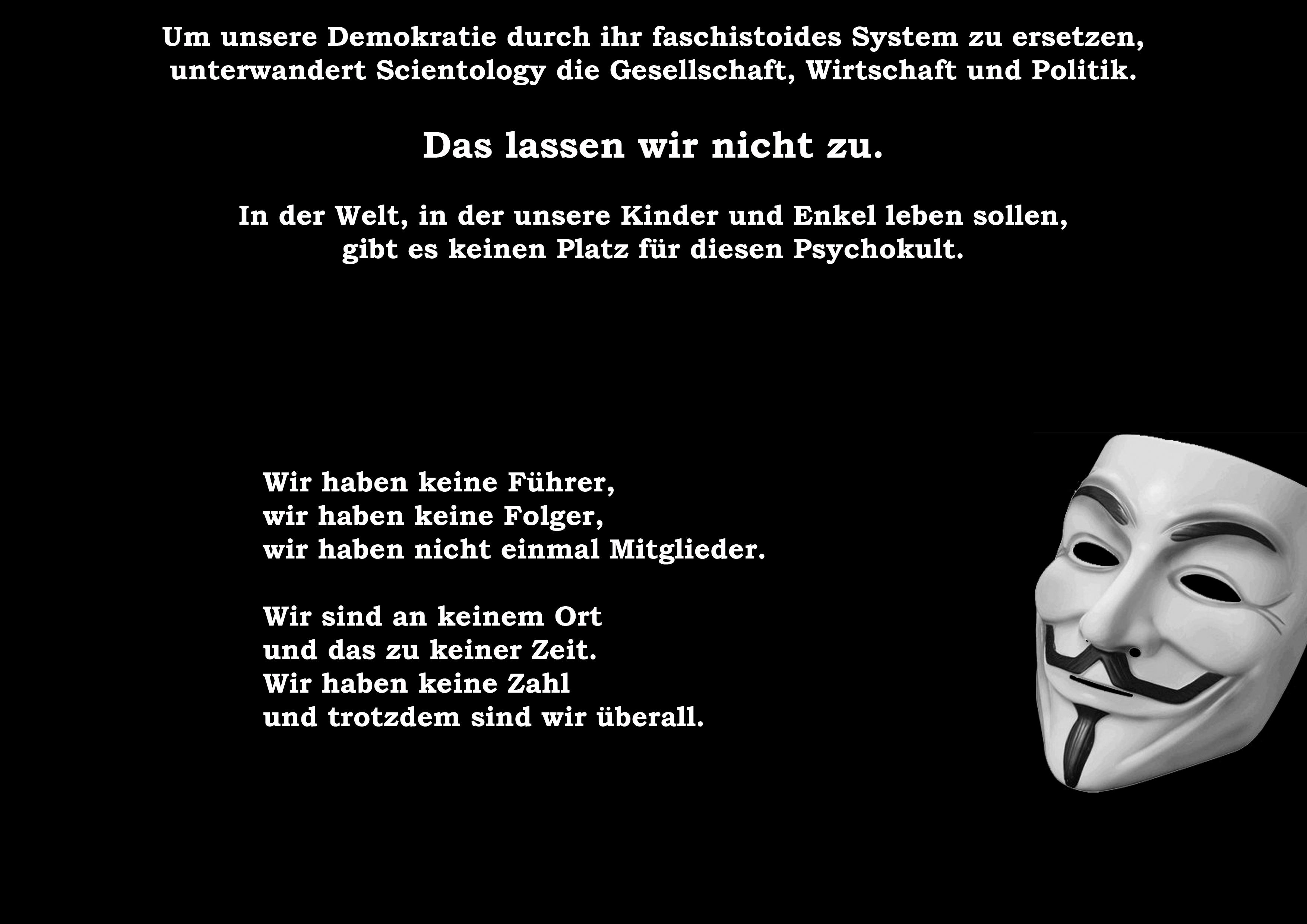 Grafik von einer Anonymous-Gruppe Reutlingen und Tübingen