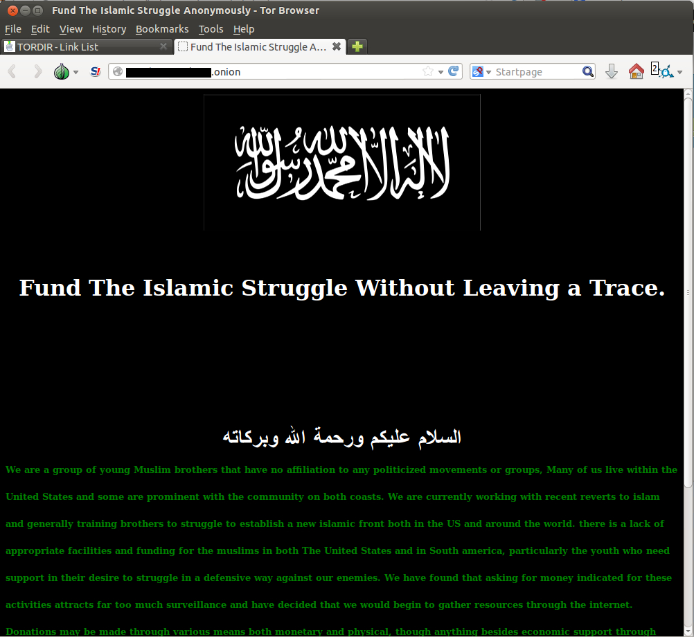 Tor Islamic Struggle 2013-12-29 13:35:11